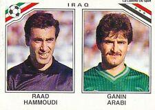 N°102 HAMMOUDI / ARABI # IRAQ WORLD CUP MEXICO 1986 STICKER PANINI VIGNETTE