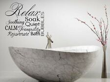 RELAX Collage Vinyl Lettering Decal Words Wall Sticker Bathroom Spa Wall Art