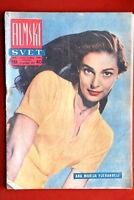 PIER ANGELI ON RARE COVER 1957 VINTAGE EXYUGO MAGAZINE