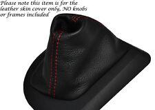Rojo Stitch Cuero Auto Automático Gear Polaina Para Bmw Serie 5 E60 E61 03-07