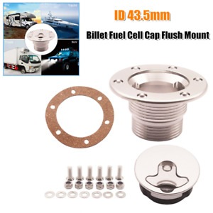 43.5mm Billet Aluminum Aircraft Fuel Cell Gas Cap Flush Mount w/6 Hole Anodized
