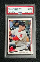 Boston Red Sox Mookie Betts 2014 Topps Update #US26 PSA 9 Mint Rookie Card Rc
