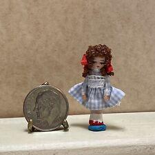Vintage Artisan Ethel Hicks Dorthy Wizard of Oz Miniature Dollhouse Doll Baby