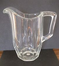 Vintage CZECH SLOVAKIA CZECHOSLOVAKIA BOHEMIA 24% LEAD CRYSTAL GLASS PITCHER