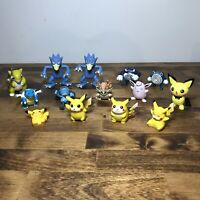Pokemon Lot 14 Figures Tomy Jakks Nintendo China Rare Pikachu Golduck Poliwarth