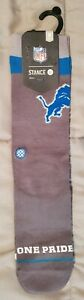 STANCE Detroit Lions Gray Local Sayings Crew Socks - Size M(6-8.5)