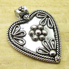 "Old Style Pendant 1.6"" Expensive-Looking ! Silver Plated Fashion Jewellery New"