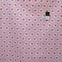 Tanya Whelan PWTW078 Valentine Rose Cameo Hearts Pink Fabric By Yd