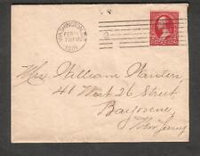 Feb 24 1901 cover Washington DC to Mrs Willaim Wauters West 26th St Bayonne NJ