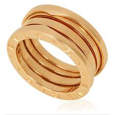 Bvlgari B.Zero1 18K Rose Gold 3-Band Ring Size 9.25