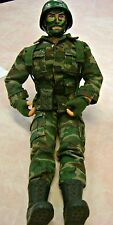 "Military Action Figure Boy MAC Green Camouflage 12"" 1980-2001 N Packaging"