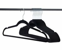 Velvet Hangers, Heavy duty, Non slip Black Premium Clothes Suit Hangers, 50 Pack