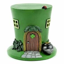 Miniature Fairy Garden St. Patrick's Day Led Leprechaun Hat House-Buy 3 Save $5