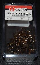 VMC 9650 Round Bend Treble Hooks Size 3/0 -  25 Pack 9650BZ-30 Bronze 1X Strong