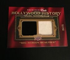 2009 UD PROMINENT CUTS HOLLYWOOD HISTORY DUAL MATERIALS HATHAWAY DAVIS 35/75