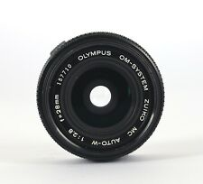 OLYMPUS OM-SYSTEM  ZUIKO MC AUTO-W 28mm f2.8 WIDE ANGLE LENS. EXCELLENT.