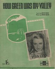 "SHEET MUSIC - ""HOW GREEN WAS MY VALLEY""  - RECORDED BY VERA LYNN (1941)"