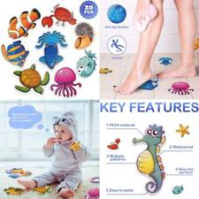 20 PCS Anti Slip Stickers Cute Sea Creature Non Slip Decals for Bathtub Shower