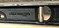 """Stanley Cast Iron Level - Clean 24"""" Length with 3 Clear Liquid Vials Intact"""