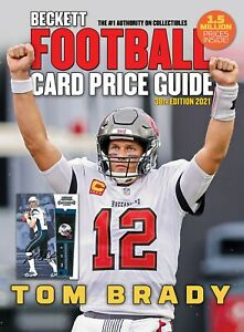 New 2021 Beckett FOOTBALL CARD Annual Price Guide 38th Edition with TOM BRADY
