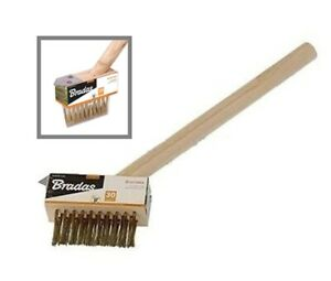 Wire Patio Brush Clean weeds moss from Block Paving Deck Wire grout gap cleaner