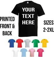 Personalised Custom Printed T Shirts Blank T-Shirt Men Women Stag Hen Top Text
