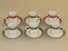 6 RARE ANTIQUE DEMITASSE CUP & SAUCER SETS ~ TIRSCHENREUTH BAVARIA ~ GERMANY 40S