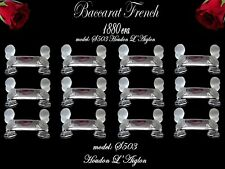 BACCARAT French Crystal knife rests 12 pc model S503 CHERUB