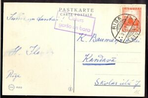 11508 Latvia,1937,Christmas greatings card from Riga to Kandava with slogan