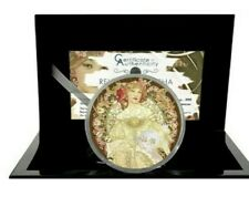2021 3 Oz Silver Palau REVERIE BY MUCHA  Renoir Micropuzzle Treasures Coin