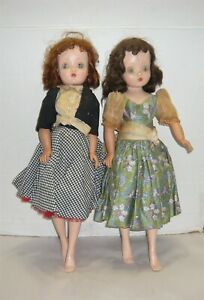 "20"" VINTAGE MADAME ALEXANDER CISSY DOLLS SET OF 2"