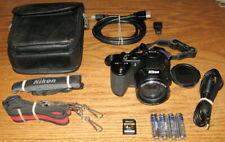 Nikon Coolpix L120 14.1MP 21.0x Wide Optical Zoom UVGC Black Guarantee Bundled