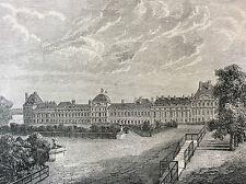 Paris Palais des Tuileries estampe de 1856