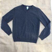 Giasone Italian Merino Wool Cashmere Gray Men's Sweater V Neck Size Large