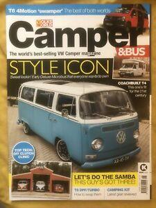 VW Camper & Bus magazine Oct 2021 2-decade Early Bay resto + show 'n' go T6.1