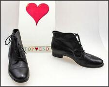 Geometric Block Heel Ankle Boots for Women