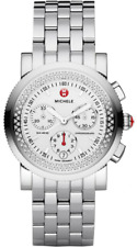 MICHELE - Ladies Sail Diamond Chronograph Stainless Steel Watch - MWW01C000003