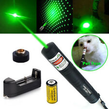 Military 20Miles 532nm 1mw Green Laser Pointer Pen Visible Beam Star Cap+Charger