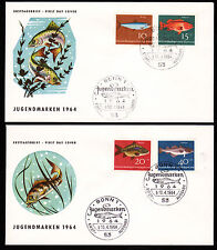 Bund 412-15 FDC, Jugendausgabe 1964-Fische