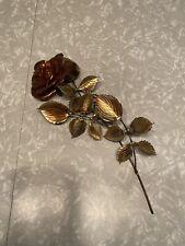 Vintage Metal Gold Copper Tone Flower Wall Hanging Art Sculpture—Pretty