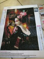 5d diamond painting full - Geisha-fertig gelegt