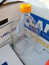 Pyrex glass culture  flask screw cap 5000  ml   bottle 5 liters  5l l