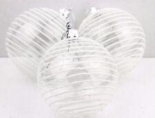Gisela Graham Natale vetro trasparente sfera con IRID paillettes astral