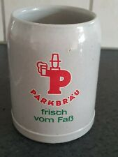 Chope a bière de collection Parkbrau en grès 0.50L 50CL
