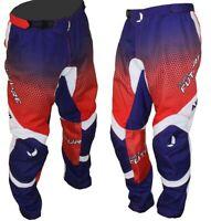 Pantaloni moto cross Pro Future Rosso/Blu/Bianco