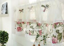 CAFÉ EDEL FLOWER Valance Curtain (WHITE) 115 x 38 cm
