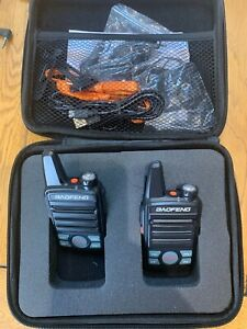 UK Stock 2 x Baofeng MINI T99 UHF 3-5W 2-way radio + Soft Case