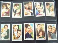 1935 FILM PARTNERS actor actress Tobacco Card Set of 48 cards lot vintage
