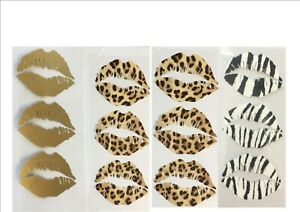 Iron On, Heat Transfer Stickers 6 x  Lips for masks,Tee Shirts, clothing