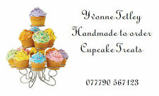 42 Large Personalised Labels Classic Cupcake Design  / Address /  (Stickers)